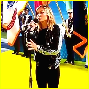 VIDEO: Olivia Holt Kills The National Anthem at NFL Pro Bowl 2017