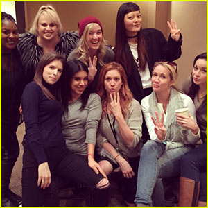 The 'Pitch Perfect 3' Ladies Strike a Pose from Day One on Set!