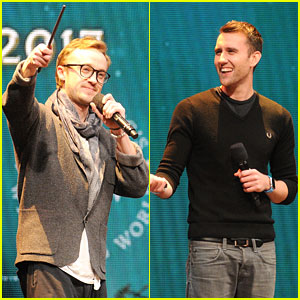 Tom Felton & Matthew Lewis Celebrate 'Harry Potter' at Universal Orlando