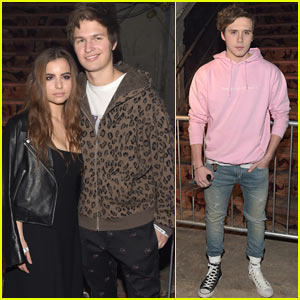 Ansel Elgort & Violetta Komyshan Couple Up for Alexander Wang's Fashion Show