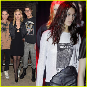 Nicola Peltz & Anwar Hadid Support His Older Sister Bella at the Alexander Wang Fashion Show!