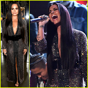 Demi Lovato Slayed the Bee Gees Grammys Tribute! (Video)