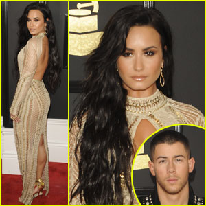 Nick Jonas Told Demi Lovato to Show Off Her 'Sexy Side' at the Grammys