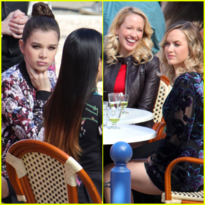 Hailee Steinfeld Celebrates Her Girlfriends on the 'Pitch Perfect 3' Set
