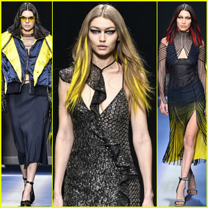 Kendall Jenner Hits the Versace Runway with Gigi & Bella Hadid