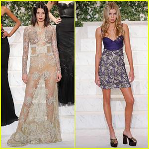 Kendall Jenner & Stella Maxwell Walk in La Perla's Fashion Show!