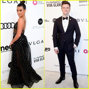 Lea Michele Stuns at Elton John AIDS Foundation Oscars Party