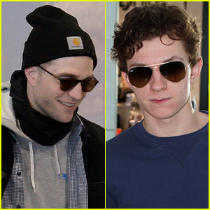 Tom Holland & Robert Pattinson Get Ready for 'Lost City of Z' in Berlin!