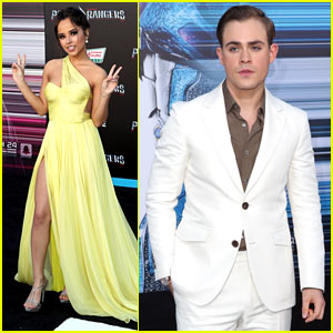 Becky G & Dacre Montgomery Attend the 'Power Rangers' Premiere!