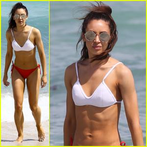 Liam Payne's Ex-Girlfriend Danielle Peazer Hits Miami Beach in Cute Bikini