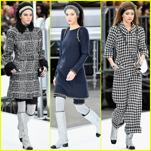 Kendall Jenner Hits the 'Chanel' Runway With Gigi & Bella Hadid
