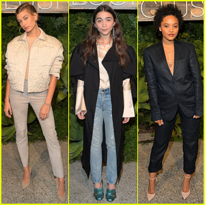 Hailey Baldwin, Rowan Blanchard, & Kiersey Clemons Look Cool at the H&M Conscious Exclusive Dinner!