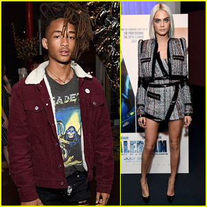 Jaden Smith Attends Cara Delevingne's 'Valerian' Trailer Viewing Party!