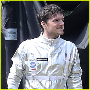 Josh Hutcherson Rocks a Spacesuit on 'Future Man' Set