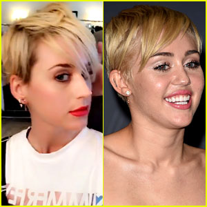 Katy Perry's New Haircut Reminds Us of Miley Cyrus!