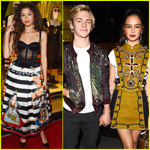 Ross Lynch & Courtney Eaton Enjoy Date Night at Dolce & Gabbana Party!