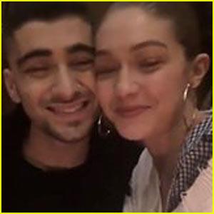 Zayn Malik Shares Cute Video with Gigi Hadid After Winning an iHeartRadio Award!