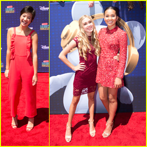 Peyton Elizabeth Lee & 'Andi Mack' Cast Meet Sabrina Carpenter at RDMAs 2017!