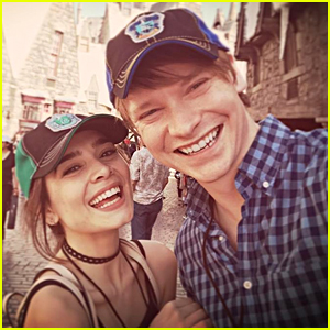 Calum Worthy & Celesta Deastis Celebrated Their Anniversary at The Wizarding World of Harry Potter