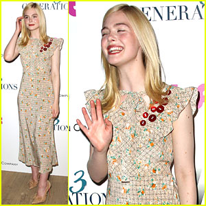 Elle Fanning Has Fun at Special '3 Generations' Screening