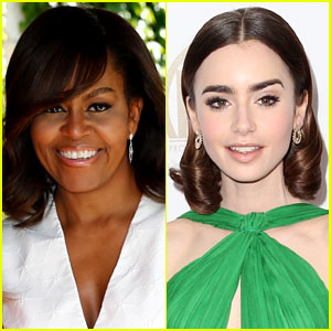 Michelle Obama's Note to Lily Collins Will Make Your Day
