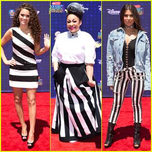 Raven Symone, Madison Pettis & Symon Wear Stripes To RDMAs 2017!