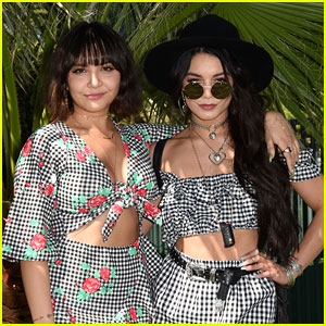 Vanessa Hudgens & Sister Stella Match with Their Coachella Day One Looks!
