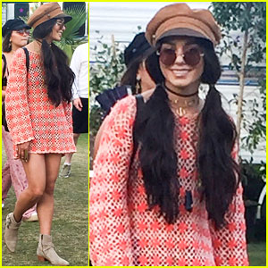 Vanessa Hudgens Wears Pigtails for Final Day of Coachella Weekend One