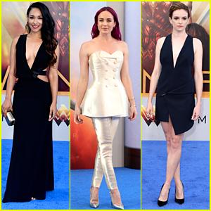 Candice Patton, Caity Lotz & Danielle Panabaker Bring Super Hero Status To 'Wonder Woman' Premiere
