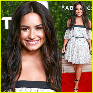 Demi Lovato Shows Off Her Romantic, Floral Side in Strapless Dress