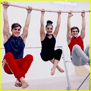 Ethan & Grayson Dolan Take On Gymnastics With Help From Laurie Hernandez