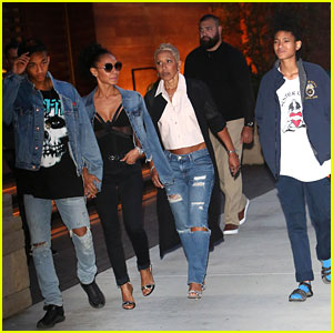 Jaden & Willow Smith Take Mom Jada Out for Mother's Day!