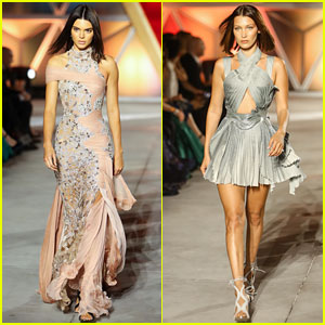 Kendall Jenner & Bella Hadid Walk the Runway for a Good Cause