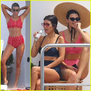 Kendall Jenner Parties on Yacht in Cannes With Hailey Baldwin & Kourtney Kardashian