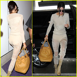 Kendall Jenner Leaves Little to the Imagination in See-Through Crochet Outfit