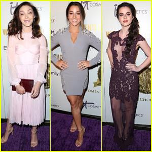 Vanessa Marano & Aly Raisman Support Meryl Davis At Women's Choice Awards 2017