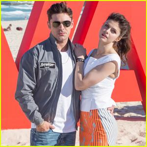 Zac Efron & Alexandra Daddario Hit the Beach for 'Baywatch' Promo