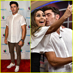 Zac Efron Kisses a Lucky Fan While Promoting 'Baywatch'
