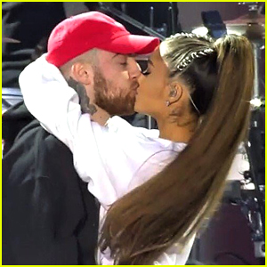 Ariana Grande Kisses Mac Miller After 'The Way' Performance at One Love Manchester Concert