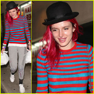 Bella Thorne Rocks 'Star Wars' Sweatpants With Stains on Them