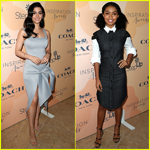 Emeraude Toubia & Yara Shahidi Step Out & Stun at Inspiration Awards 2017