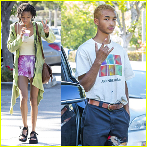 Willow & Jaden Smith Flash Some Hand Signs for the Cameras