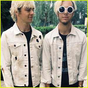 Ross Lynch & Riker Lynch Wear Matching Outfits For 'New Addictions' Radio Promo