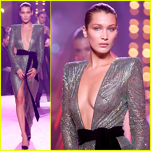 Bella Hadid Stuns in Sequined Dress for Alexandre Vauthier Fashion Show