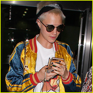 Cara Delevingne Travels to London After PFW