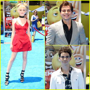 Cameron Boyce & DeVore Ledridge Support Jake T. Austin at 'Emoji Movie' Premiere