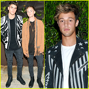 Cameron Dallas Celebrates Balmain Store Opening with Jack & Jack!