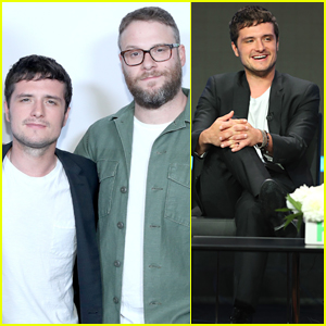 Josh Hutcherson & Seth Rogen Step Out to Promote 'Future Man' in Beverly Hills