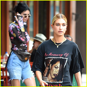 Hailey Baldwin Pays Tribute to a Late Singer at Lunch wtih Kendall Jenner
