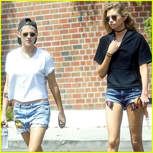 Kristen Stewart Joins Stella Maxwell for Lunch in Los Angeles